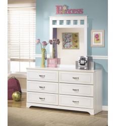 Ashley - Lulu B102 Bedroom Mirror - White (B102-26)