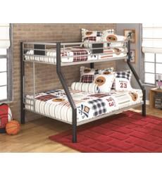 Ashley - Dinsmore B106 Twin/Full Bunk Bed w/Ladder - Black/Gray (B106-56)