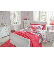 Ashley - Anarasia B129 Twin/Full/Queen/King Sleigh Bed - White