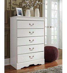 Ashley - Anarasia B129 Five Drawer Chest - White (B129-46)