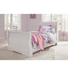 Ashley - Anarasia B129 Twin Sleigh Footboard - White (B129-62)