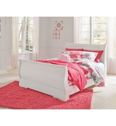 Ashley - Anarasia B129 Full Sleigh Footboard - White (B129-84)