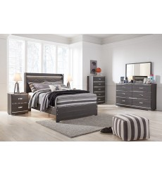 Ashley - Annikus B132 Twin/Full/Queen Upholstery Bed - Gray