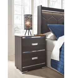 Ashley - Annikus B132 Two Drawer Night Stand - Gray (B132-92)