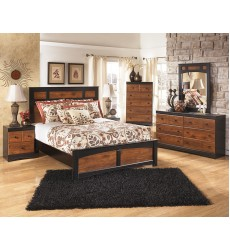 Ashley - Aimwell B136 Twin/Full/Queen Bed - Dark Brown