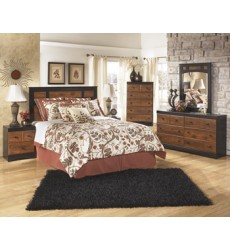 Ashley - Aimwell Two Drawer Night Stand - Dark Brown ( B136-92 )