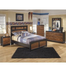 Ashley - Aimwell Full Panel Footboard - Dark Brown ( B136-84 )