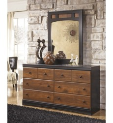 Ashley - Aimwell B136 Bedroom Mirror - Dark Brown (B136-36)