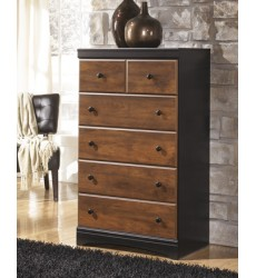 Ashley - Aimwell B136 Five Drawer Chest - Dark Brown (B136-46)