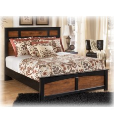 Ashley - Aimwell Queen Panel Footboard - Dark Brown ( B136-54 )