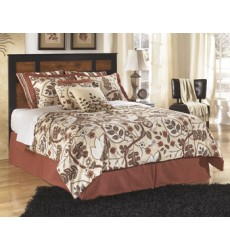 Ashley - Aimwell Queen/Full Panel Headboard - Dark Brown ( B136-57 )