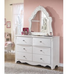 Ashley - Exquisite B188Y French Style Bedroom Mirror - White (B188-37)