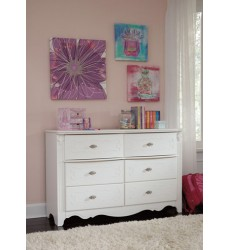 Ashley - Exquisite B188Y Dresser - White (B188-21)