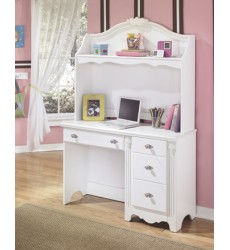 Ashley - Exquisite B188Y Bedroom Desk Hutch - White (B188-23)