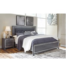Ashley - Lodanna B214 Full/Queen/King Bed - Gray (Option: Storage Footboard)