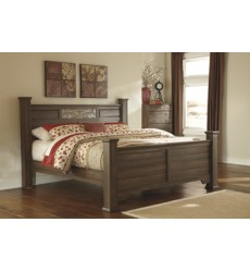 Ashley - Allymore B216 Queen/King Poster Headboard Posts - Brown (B216-71)