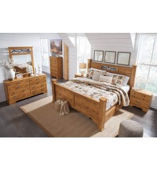 Ashley - Bittersweet B219 Full/Queen/King Bed - Light Brown (Compatible with storage / Sleigh style)