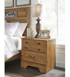 Ashley - Bittersweet Two Drawer Night Stand - Light Brown ( B219-92 )