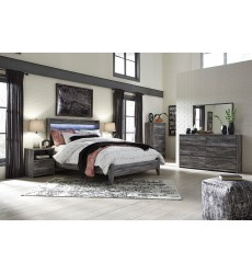Ashley - Baystorm B221 Twin/Full/Queen/King Bed - Gray (option with bed storage, canopy post/beam)