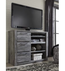 Ashley - Baystorm B221 Media Chest with Fireplace Option - Gray (B221-48)