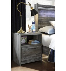 Ashley - Baystorm B221 One Drawer Night Stand - Gray (B221-91)