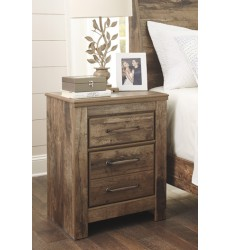 Ashley - Blaneville Two Drawer Night Stand - Brown ( B224-92 )
