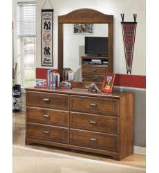 Ashley - Barchan Dresser - Medium Brown ( B228-21 )