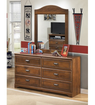 Ashley - Barchan B228 Dresser - Medium Brown (B228-21)