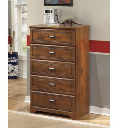 Ashley - Barchan B228 Five Drawer Chest - Medium Brown (B228-46)