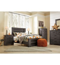 Ashley - Brinxton B249 Full/Queen/King/Cal King Panel Bed - Black