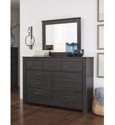 Ashley - Brinxton B249 Bedroom Mirror - Charcoal (B249-36)