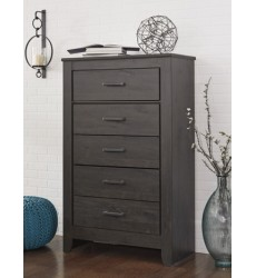 Ashley - Brinxton B249 Five Drawer Chest - Black (B249-46)