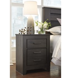 Ashley - Brinxton B249 Two Drawer Night Stand - Black (B249-92)