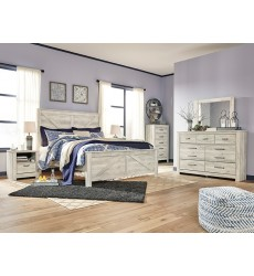 Ashley - Bellaby B331 King/Queen Panel bed compatible with storage - Whitewash