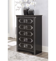 Ashley - Banalski B342 Five Drawer Chest - Dark Brown (B342-46)