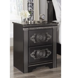 Ashley - Banalski B342 Two Drawer Night Stand - Dark Brown (B342-92)
