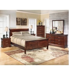 Ashley - Alisdair B376 Twin/Full/Queen/King/Cal King Sleigh Bed - Dark Brown