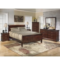 Ashley - Alisdair B376 Two Drawer Night Stand - Dark Brown (B376-92)