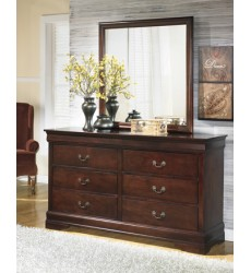 Ashley - Alisdair B376 Dresser - Dark Brown (B376-31)