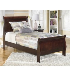 Ashley - Alisdair Twin Sleigh HDBD/FTBD - Dark Brown ( B376-53 )