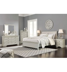 Ashley - Jorstad B378 Twin/Full/Queen/King/Cal King Sleigh Bed - Gray