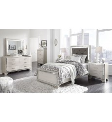 Ashley - Lonnix B410 Twin/Full/Queen Bed - Silver Finish
