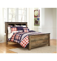 Ashley - Trinell B446 Twin/Full/Queen/King Bed - Brown (Option: Poster/Bookcase Headboard, Storage)