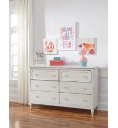 Ashley - Faelene B485 Dresser - Chipped White (B485-21)