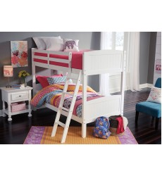 Ashley - Kaslyn B502 Twin/Full/Queen Bed - White (Option: Twin Bunk Bed)