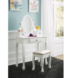 Ashley - Kaslyn B502 Vanity/Mirror/Stool (3/CN) - Multi (B502-22)