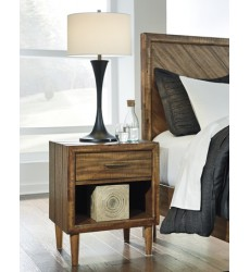 Ashley - Broshtan B518 One Drawer Night Stand - Light Brown (B518-91)