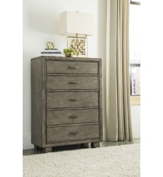 Ashley - Arnett B552 Five Drawer Chest - Gray (B552-46)