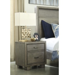 Ashley - Arnett B552 Two Drawer Night Stand - Gray (B552-92)