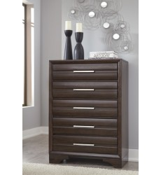 Ashley - Andriel B609 Five Drawer Chest - Dark Brown (B609-46)